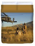 U.s. Air Force Pararescuemen Signal Duvet Cover