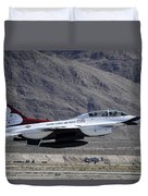 U.s. Air Force Thunderbird F-16 Duvet Cover