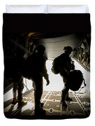 U.s. Army Green Berets Wait To Jump Duvet Cover