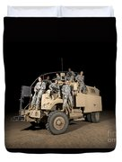 U.s. Army Medical Personnel Pose Duvet Cover