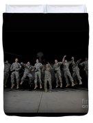 U.s. Army Pilots & Crew Chiefs Jump Duvet Cover