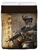 U.s. Army Ranger In Afghanistan Combat Duvet Cover
