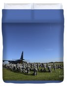U.s. Army Soldiers Conduct Pre-jump Duvet Cover
