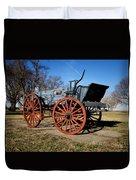 Us Buckboard Wagon Duvet Cover