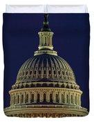 U.s. Capitol At Night Duvet Cover
