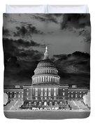 Us Capitol Washington Dc Negative Duvet Cover