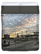 Us Cell Sunset Duvet Cover