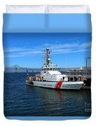 Us Coast Guard On Columbia River Duvet Cover