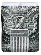 Us Dollar Eagle Duvet Cover