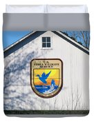 Us Fish And Wildlife Service Sign  3931 Duvet Cover