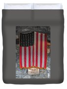 Us Flag At Whiteface Mountain Ny Duvet Cover