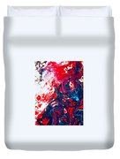 Us Flag Is Waving Duvet Cover