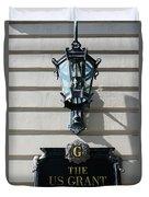 Us Grant Corner Plaque Duvet Cover