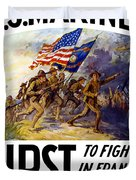 Us Marines - First To Fight In France Duvet Cover