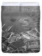 U.s. Naval Yard In Brooklyn Ny Photograph - 1932 Duvet Cover