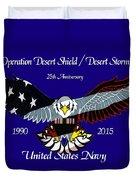 Us Navy Desert Storm Duvet Cover