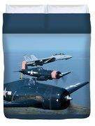 Us Navy Lagacy Flight  Duvet Cover