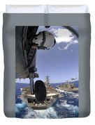 U.s. Navy Petty Officer Leans Duvet Cover