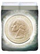 Us One Quarter Dollar Coin 25 Cents Duvet Cover
