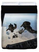 U.s. Pararescuemen And U.s. Marines Duvet Cover
