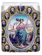 Us Presidents And Lady Liberty  Duvet Cover