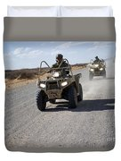 U.s. Soldiers Perform Maneuvers Duvet Cover