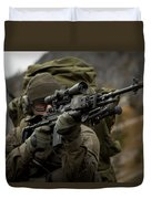 U.s. Special Forces Soldier Armed Duvet Cover