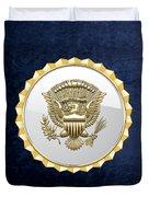 Vice Presidential Service Badge On Blue Velvet Duvet Cover