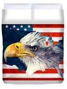 Usa Flag Eagle Duvet Cover