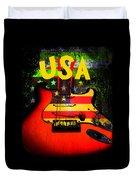 Usa Guitar Music Duvet Cover