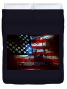 Usa Patriot Flag And War Duvet Cover
