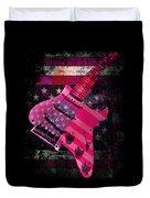 Usa Pink Strat Guitar Music Duvet Cover