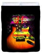 Usa Strat Guitar Music Duvet Cover
