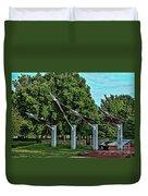 Usaf Museum Memorial Garden Duvet Cover