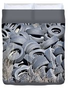 Used Tires At Junk Yard Duvet Cover
