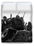 Usmc On The Move In A Lav-25 Duvet Cover