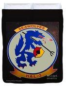 Usn Seawolves Logo Duvet Cover