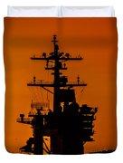 Uss Carl Vinson At Sunset 2 Duvet Cover