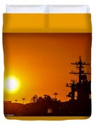 Uss Carl Vinson At Sunset 3 Duvet Cover