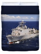 Uss Comstock Transits The Indian Ocean Duvet Cover