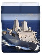 Uss Green Bay Transits The Indian Ocean Duvet Cover