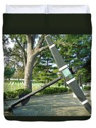 Uss Maine Anchor Duvet Cover