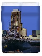 Uss Midway San Diego Ca Duvet Cover