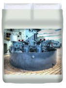 Uss North Carolina, Bb 55, 40mm Guns Duvet Cover