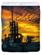 U.s.s. Silversides Sunset Duvet Cover