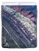 Utah Mountains High Altitiude Aerial Photo Duvet Cover