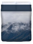 Ute Pass As Storm Clouds And Fog Roll In  Duvet Cover