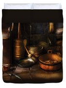 Utensils - Colonial Utensils Duvet Cover
