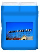 Utica Club Ale West End Brewery Duvet Cover