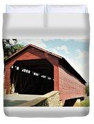 Utica Mills Covered Bridge Duvet Cover